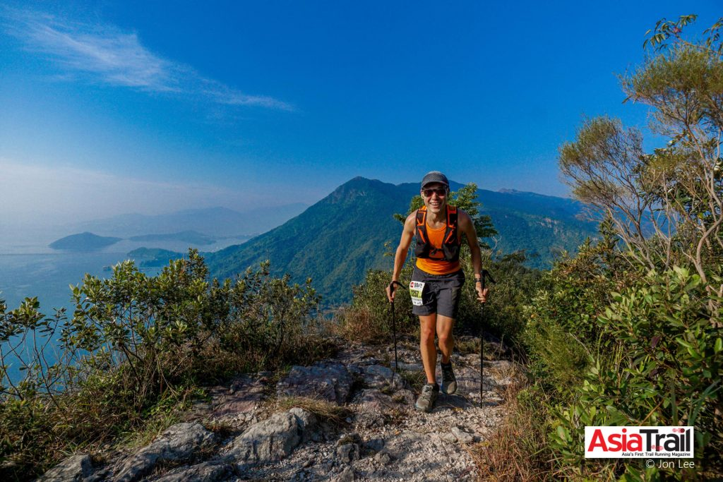 Henri enjoying the views during The North Face Hong Kong 100.